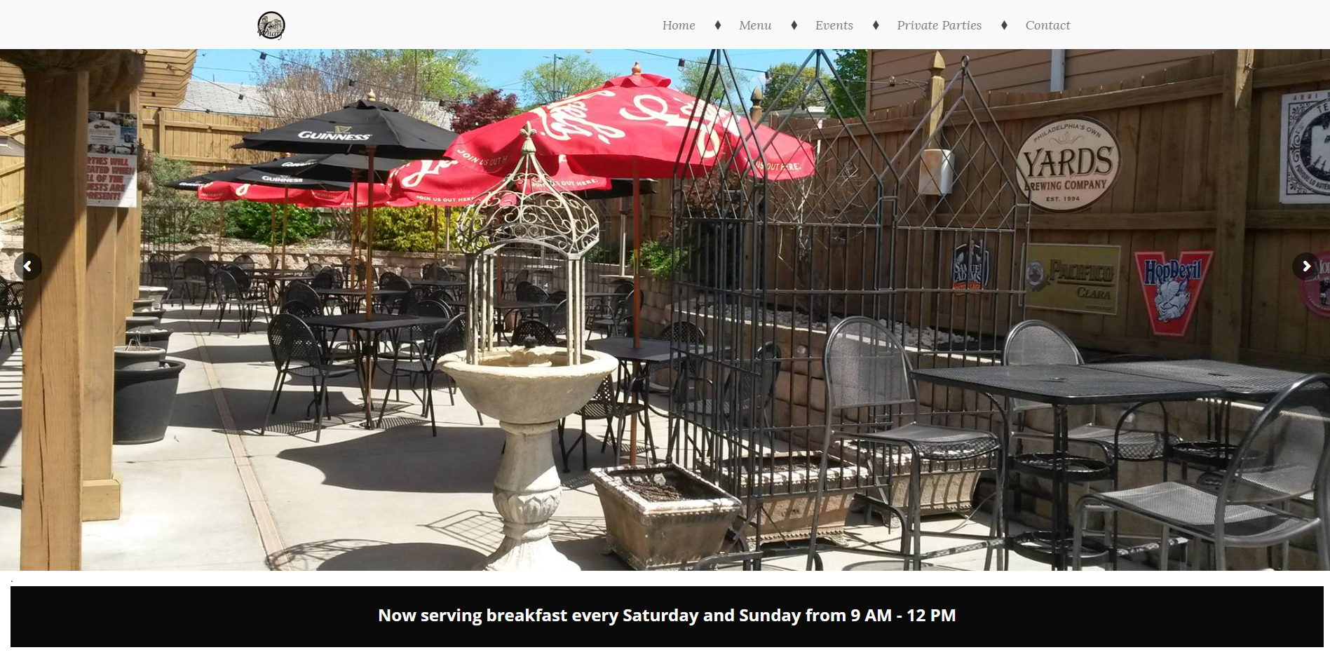 The Wharf Bar and Grill Website